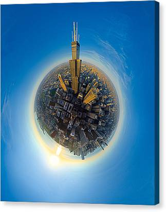 Willis Tower  Canvas Print by Robert Harshman