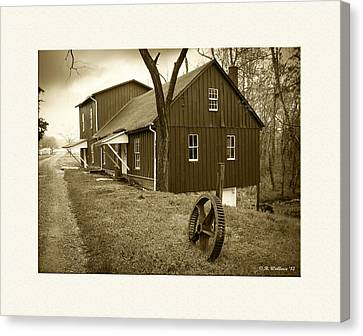 Williston Mill - Sepia Canvas Print by Brian Wallace