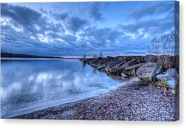 Willow Lake Canvas Print - Willow Bay by Everet Regal