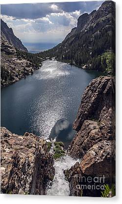Willow Lake Waterfall Canvas Print by Scotts Scapes