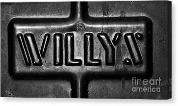 Willys Emblem Canvas Print by Juls Adams