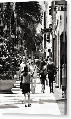 Wilshire Walkers Canvas Print by Ricky Barnard