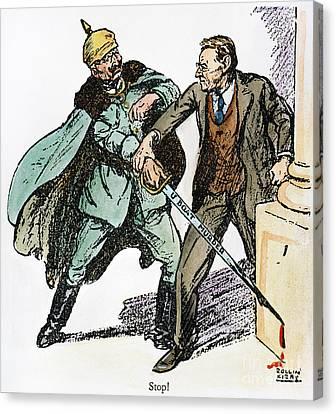 Wilson & The Kaiser: Canvas Print by Granger