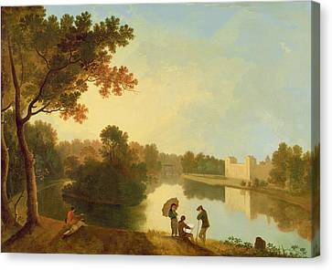 Wilton House From The South-east Canvas Print by Richard Wilson