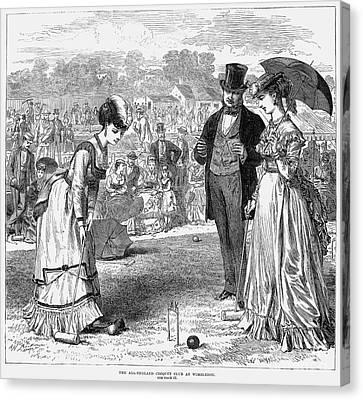 Wimbledon: Croquet, 1870 Canvas Print by Granger