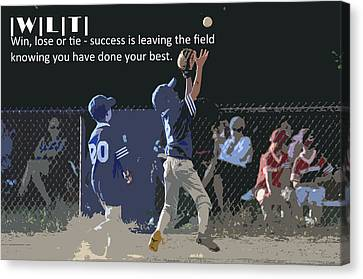 Win Lose Tie 3 Canvas Print by Peter  McIntosh