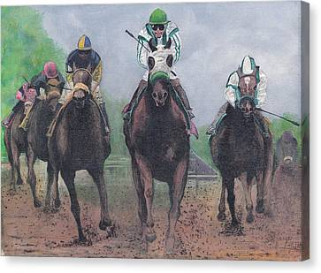 Win Place And Show Canvas Print by Stuart B Yaeger