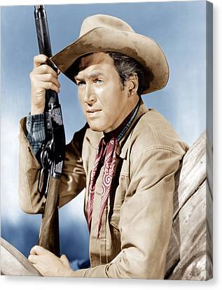 Winchester 73, James Stewart, 1950 Canvas Print by Everett
