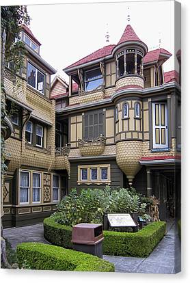 Winchester House - Door To Nowhere Canvas Print by Daniel Hagerman