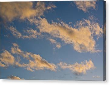 Wind Driven Clouds Canvas Print by Mick Anderson