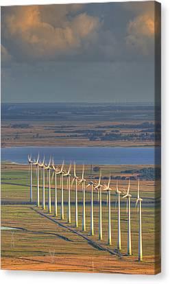 Wind Energy Canvas Print by by Roberto Peradotto