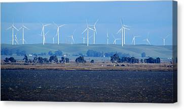 Wind Farm On The Delta Canvas Print