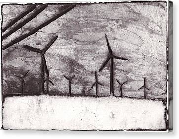 Wind Farming Canvas Print by Taylor Lee Bisbee