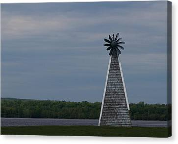 Canvas Print featuring the photograph Wind Mill by Josef Pittner