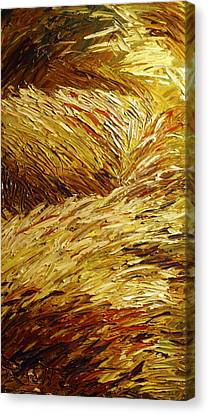 Windblown Grass Canvas Print by Raette Meredith
