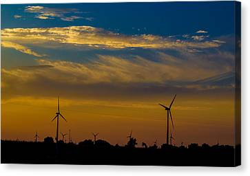 Windfarm Canvas Print by Drew Wing