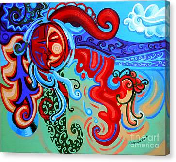 Winding Sun Canvas Print by Genevieve Esson