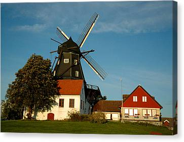 Windmill - Sweden Canvas Print by Joshua Benk