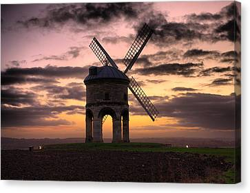 Windmill At Dusk Canvas Print by Christopher Gandy
