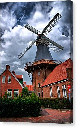 Windmill In Northern Germany Canvas Print by Edward Myers