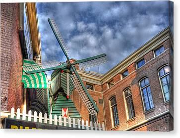 Windmill Of Amsterdam Canvas Print by Barry R Jones Jr