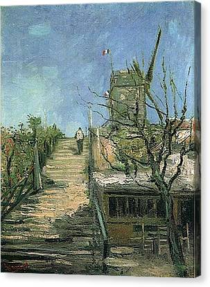 Windmill On Montmartre Canvas Print