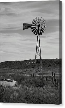Windmill On The Plains Canvas Print by Jason Drake