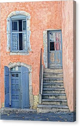 Canvas Print featuring the photograph Window And Doors Provence France by Dave Mills