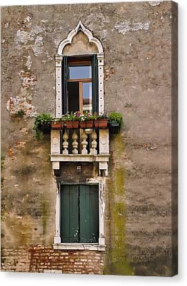 Window Art Venice Canvas Print by Forest Alan Lee