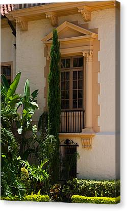 Canvas Print featuring the photograph Window At The Biltmore by Ed Gleichman