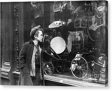 Toy Shop Canvas Print - Window Display, C1910 by Granger