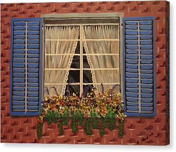 Window Garden Canvas Print by Maria Medina