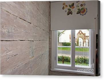 Window In Old Log Cabin Canvas Print by Jaak Nilson