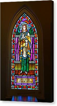 Jesus Christ Icon Canvas Print - Window In Trinity Church V by Steven Ainsworth