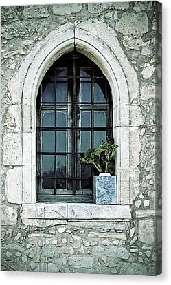 Old Wall Canvas Print - Window Of A Chapel by Joana Kruse