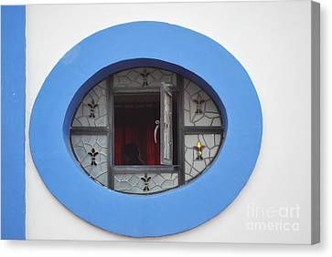 Window Of Secrets Canvas Print by Anne Gordon