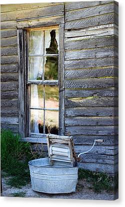 Window On Prairie Life Canvas Print by Judy Hall-Folde