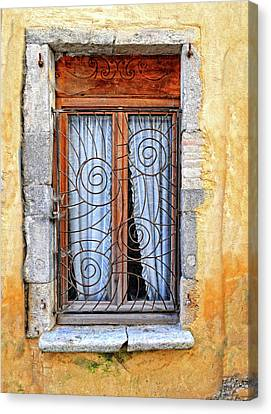 Canvas Print featuring the photograph Window Provence France by Dave Mills