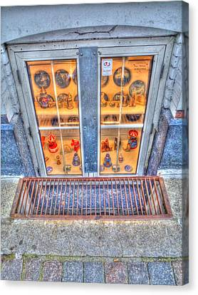 Window Shopping Canvas Print by Barry R Jones Jr