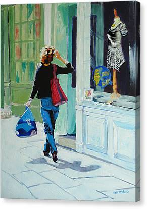 Window Shopping Canvas Print by Neil McBride