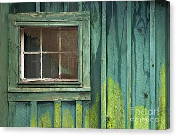 Cabin Window Canvas Print - Window To The Past - D007898 by Daniel Dempster