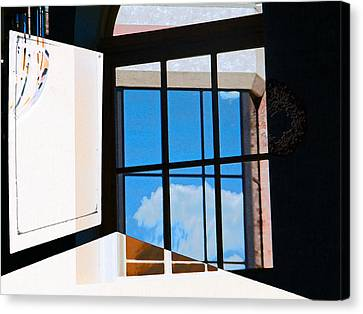 Window Treatment Canvas Print by Lenore Senior