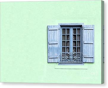 Ironwork Canvas Print - Window With Copy Space by Jane Rix