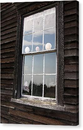 Window With Seashells Canvas Print