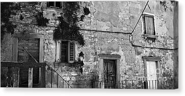 Canvas Print featuring the photograph Crumbling In Croatia by Andy Prendy