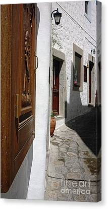 Door Canvas Print - Windows And Doors Of Greece by Therese Alcorn