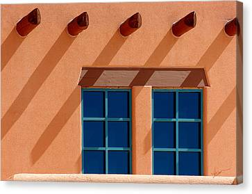 Windows Blue Canvas Print by Vicki Pelham