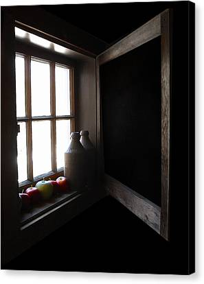 Canvas Print featuring the photograph Windowsill by Raymond Earley