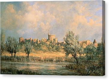 Windsor Castle - From The River Thames Canvas Print by Richard Willis