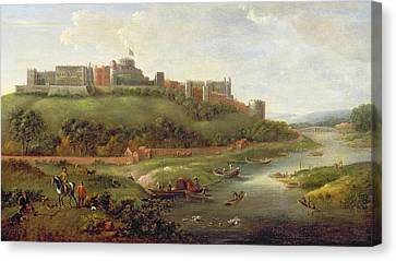 Windsor Castle Canvas Print by Hendrick Danckerts